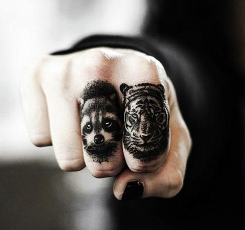 Tatuajes de animales en la mano