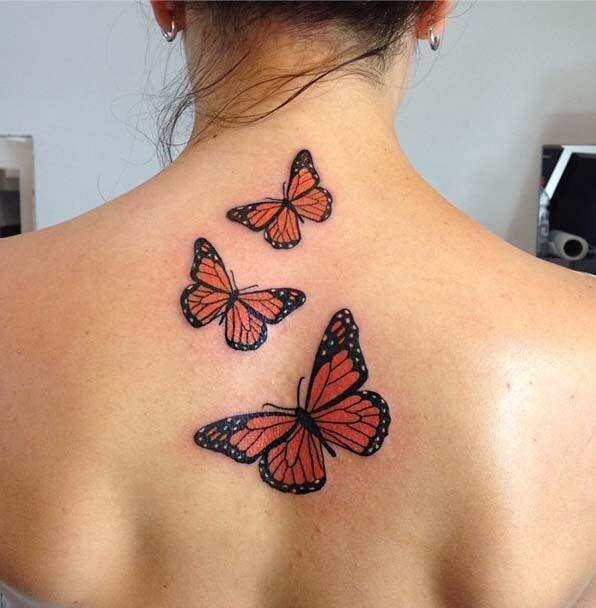 imagen de tatuaje de mariposa monarca