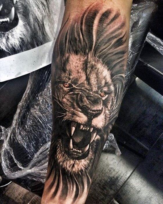 tattoo de leon furioso