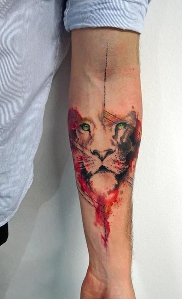 tatuaje de leona mujer