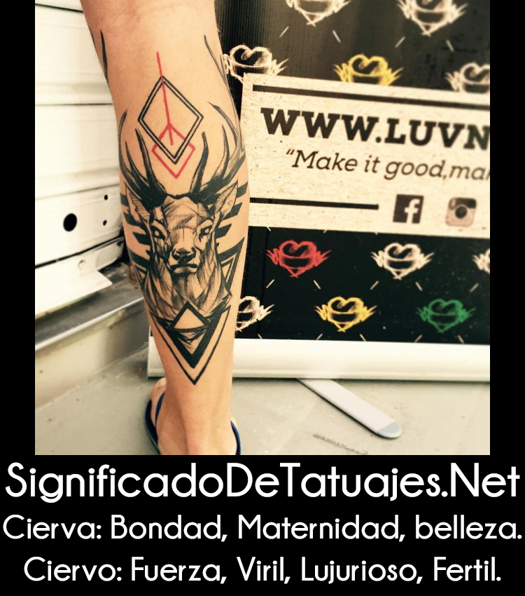 Tatuajes De Ciervos Para Hombres Y Mujeres