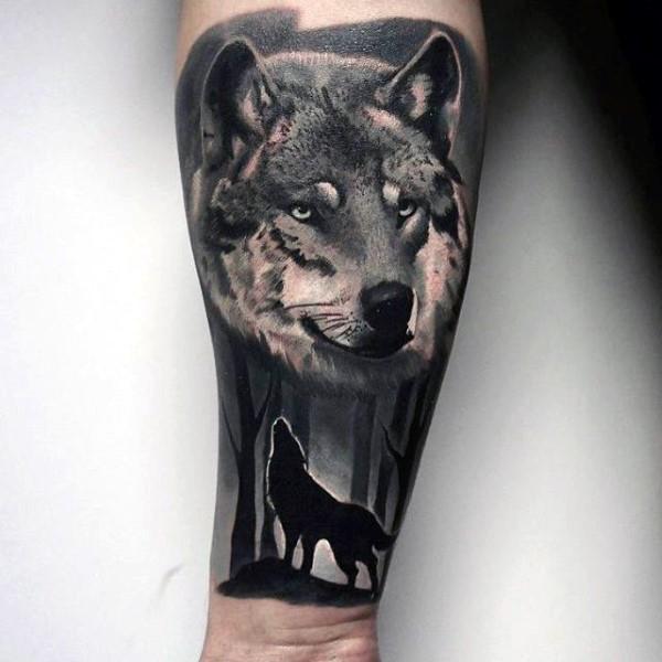bosque y lobo tatuajes