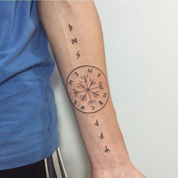 50 Tatuajes De Brujula Hombre Mujer Significados 2019