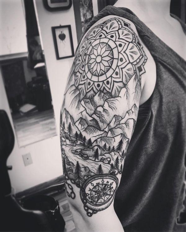 ideas de tattoos de brújulas