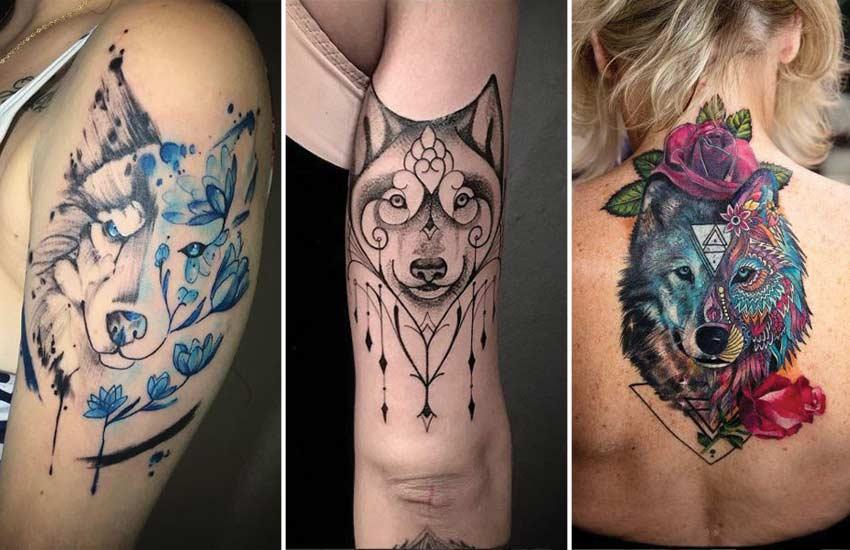 ideas de tatuajes de lobo para mujer