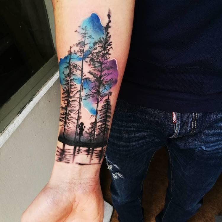 imagenes de tatuajes de bosques
