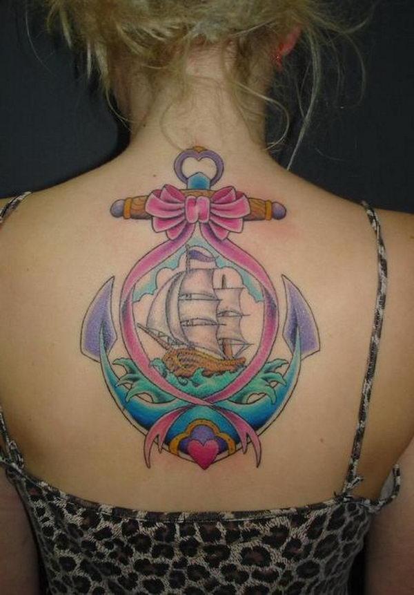 imagenes de tatuajes sobre el cancer lazo rosa y ancla