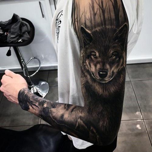 manga de lobo brazo