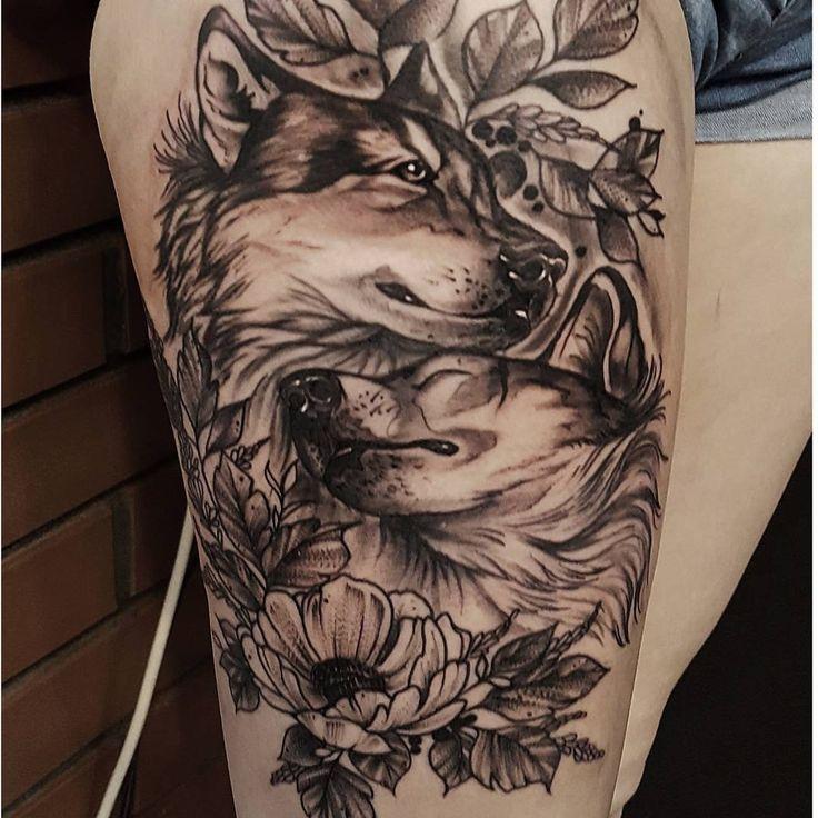 mejores tatuajes de lobos para mujer