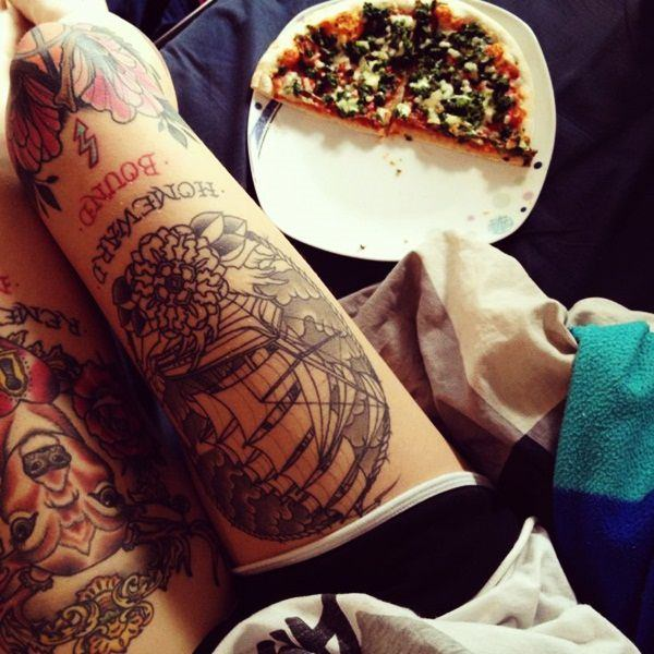 mejores tatuajes en la pierna para mujer
