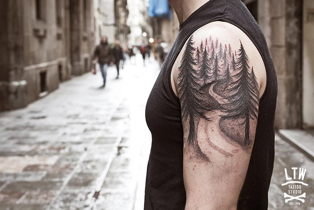 significado de tatuaje de bosque