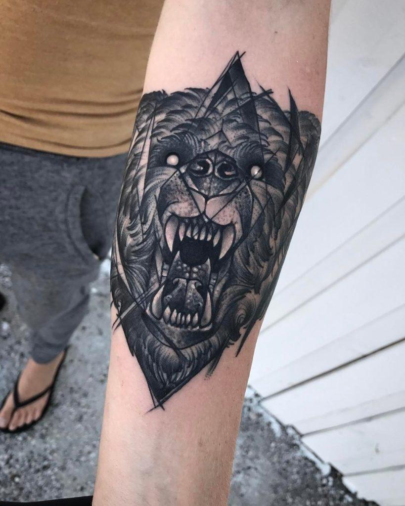 simbolismo de tatuajes de animales geometricos