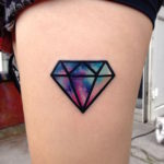 tattoo de diamante a color
