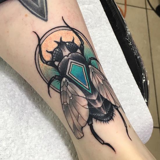 tattoo de mosca