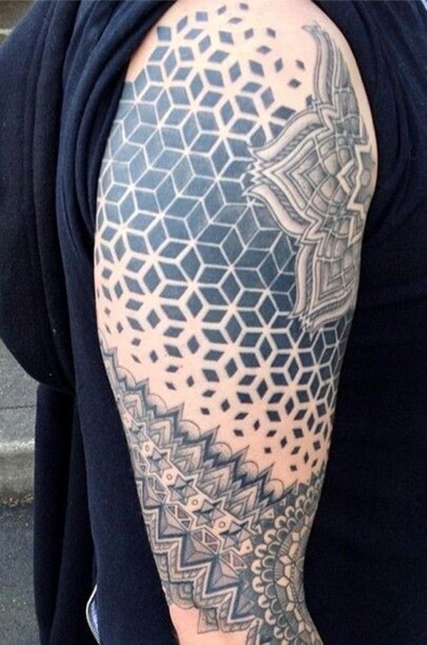 tatuaje 3d cubos brazo