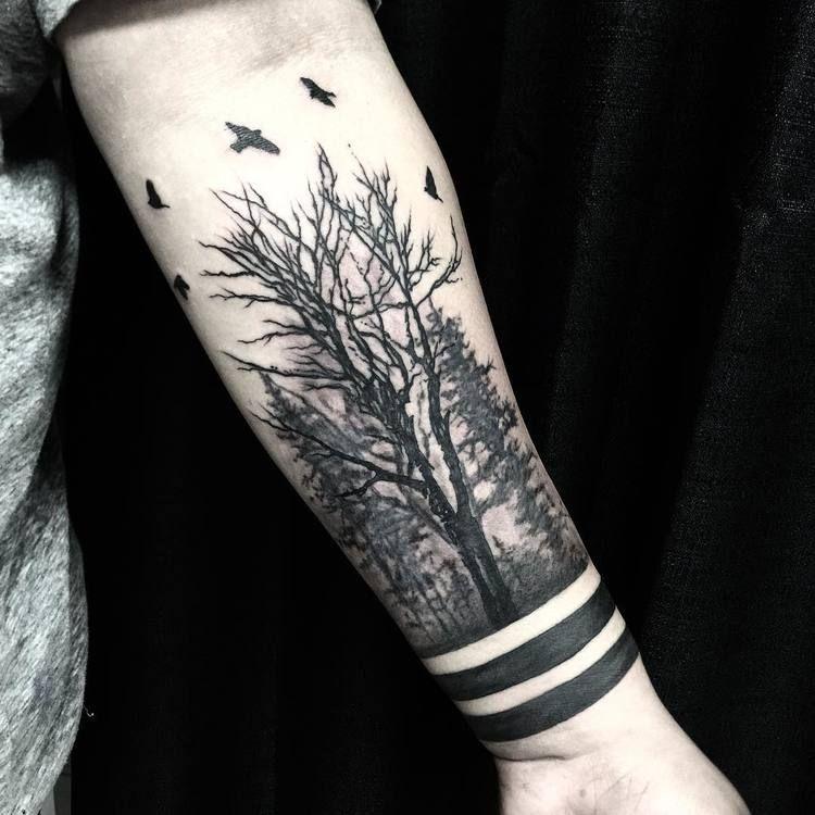 Top 25 Tatuajes De Bosques Significados Ideas E Imágenes 2019