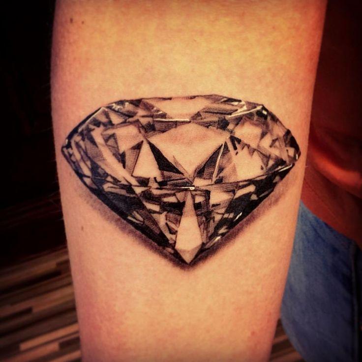 tatuaje de diamante 3d