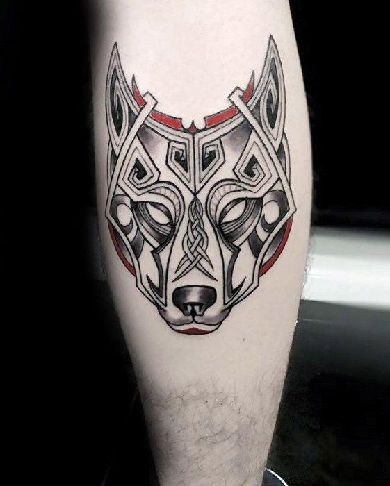 tatuaje lobo celta