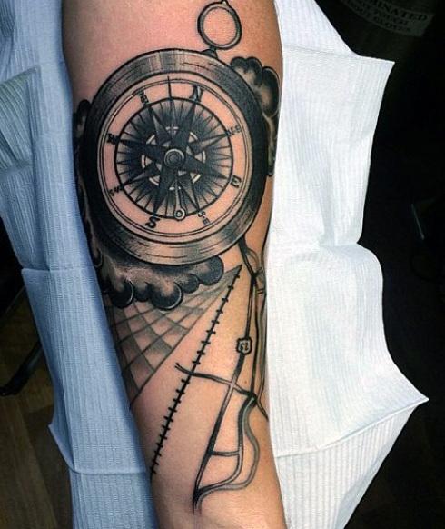 tatuajes con significados brujula