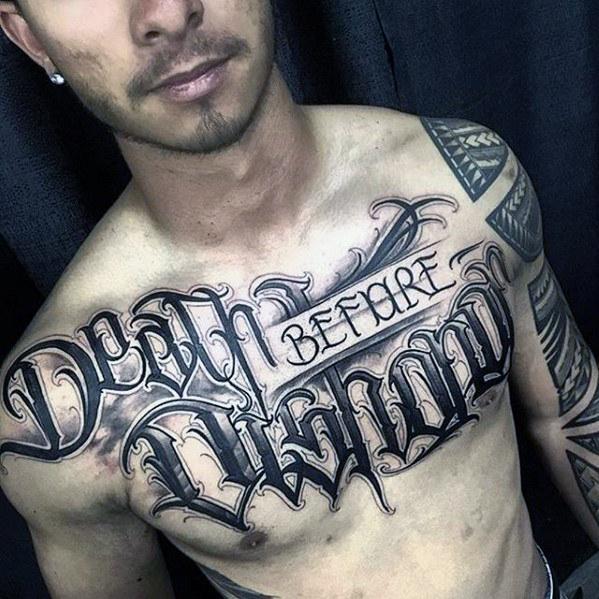 tatuajes en el pecho frase