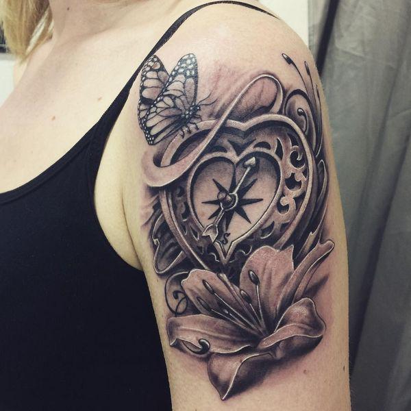 tatuajes para mujeres brujulas