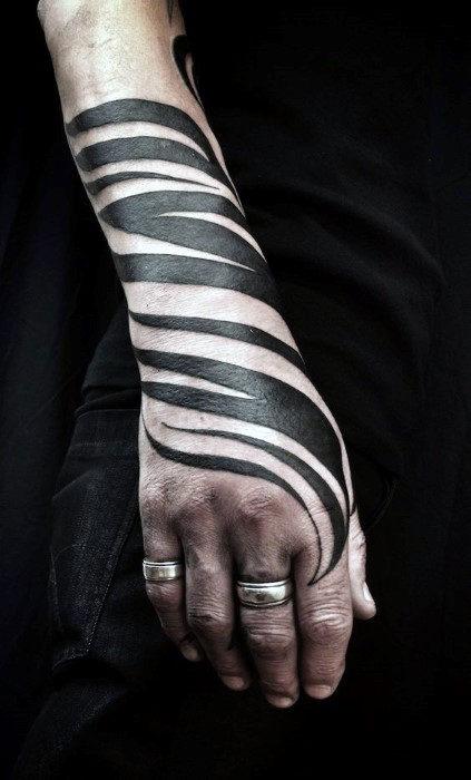 tribal zebra tatuaje