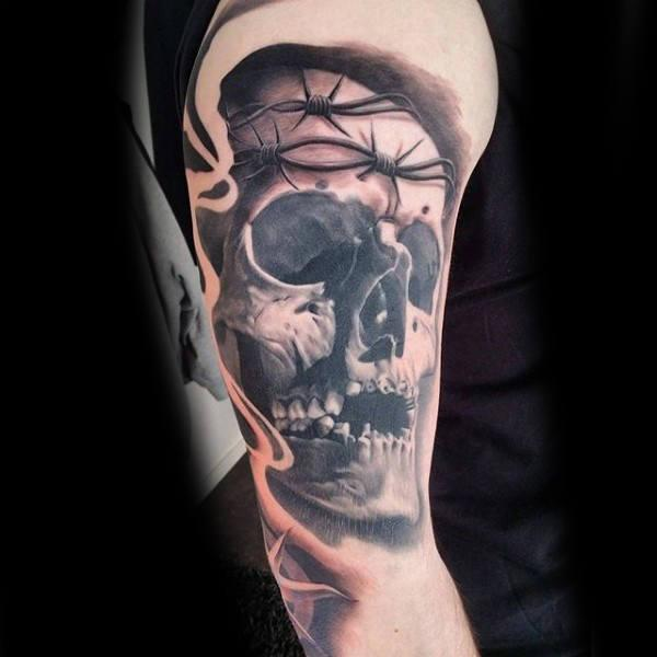 cráneo alambres