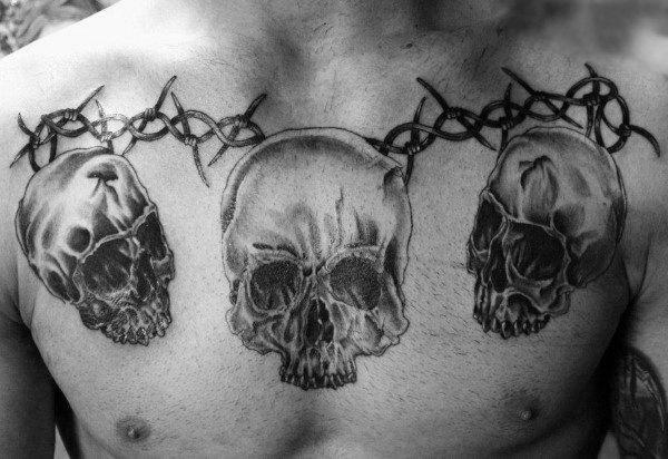cráneos con púas