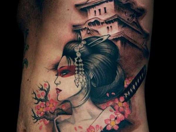 geisha tatuaje