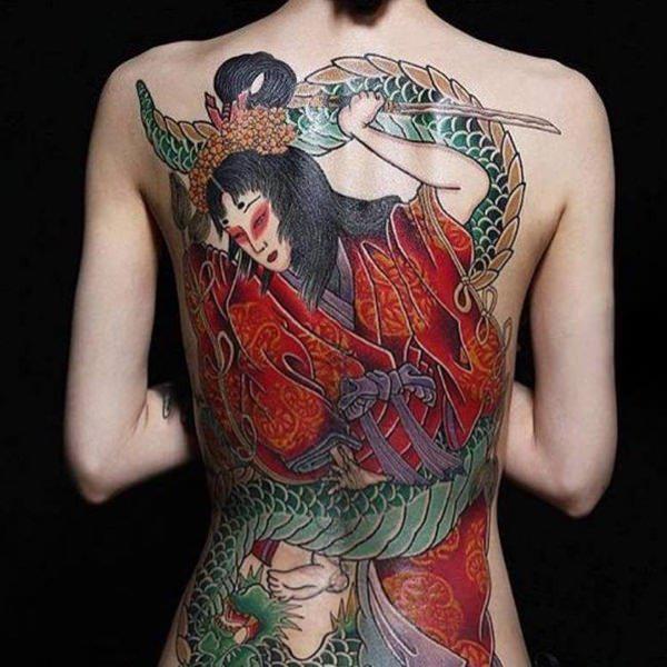 geisha tatuajes para mujeres