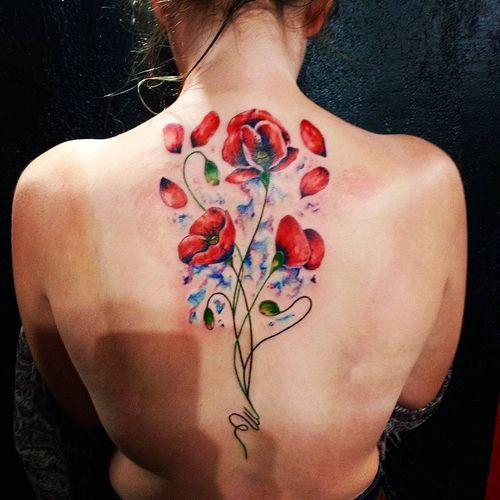 mejores tatuajes de amapolas
