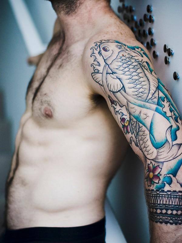que significa el tatuaje de pez koi