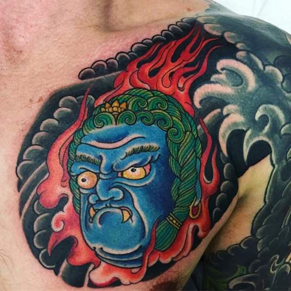 tatu inspirado en el mar