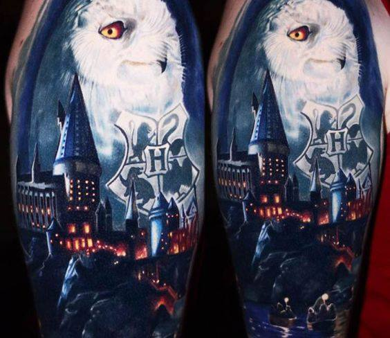 Hogwarts tattoo lechuza