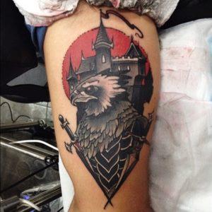 aguila guerrera tattoo