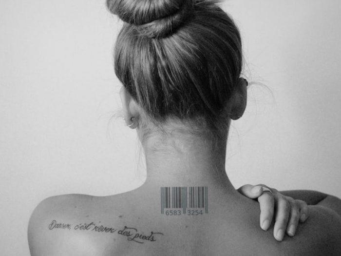 codigo de barras cuello mujer