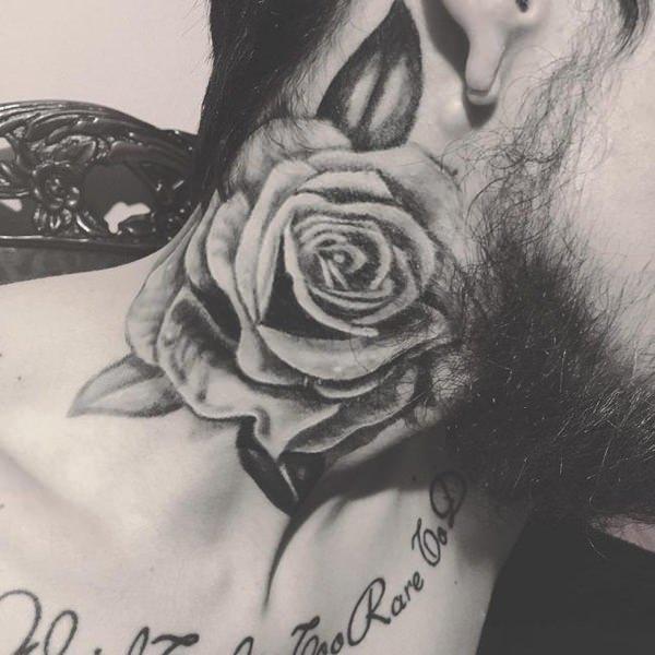 rosa tinta negra