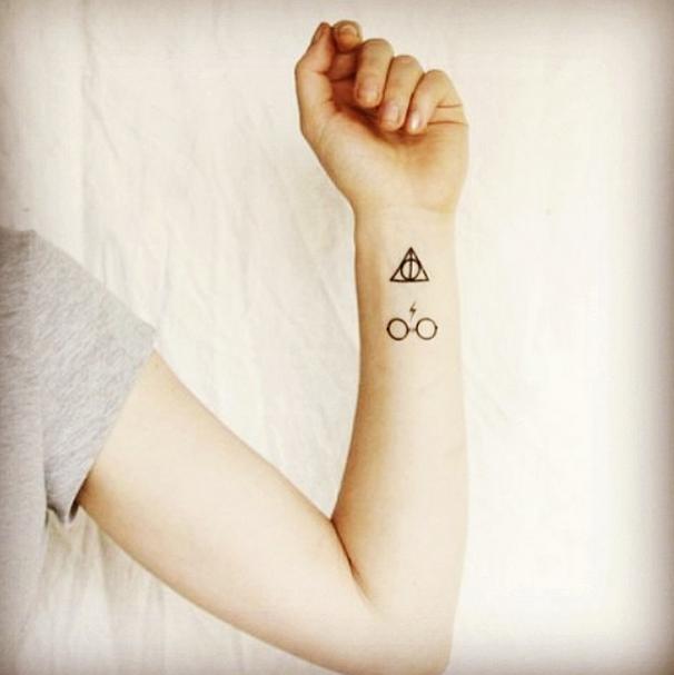 tattoo de harry potter para mujer