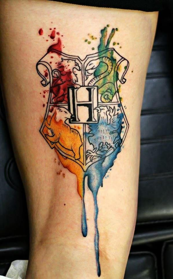 tatuaje escudo harry potter
