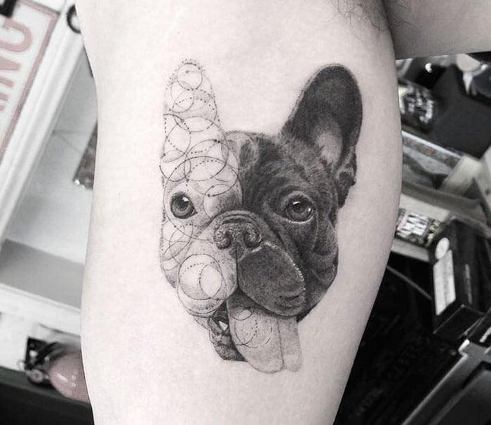tatuaje de bulldog frances