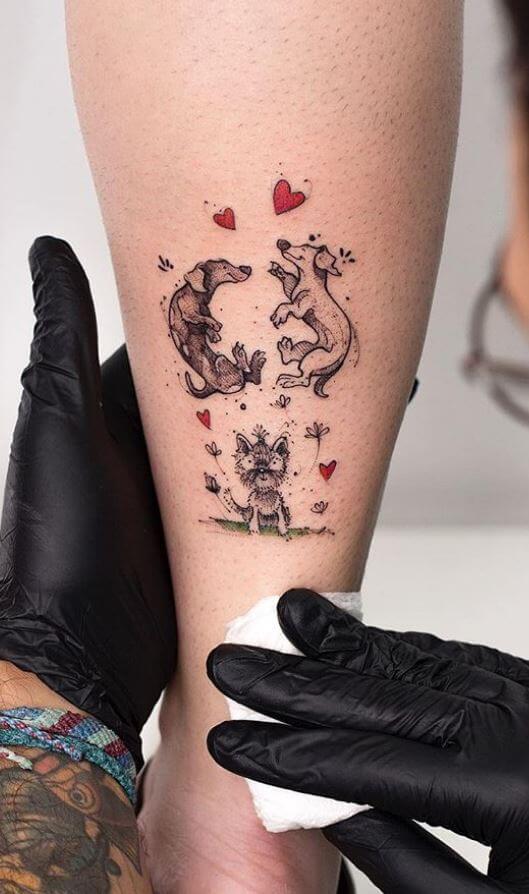 tatuajes de perros tiernos