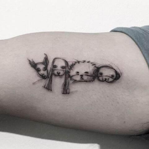 tatuajes pequeños de perros