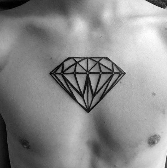 diamante en el pecho