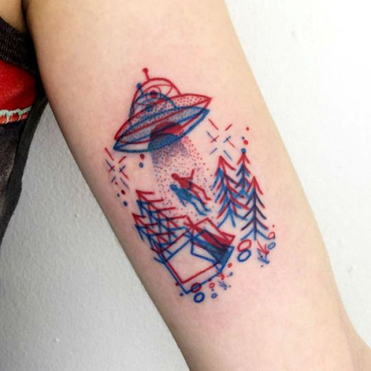 alien tatoo en 3D
