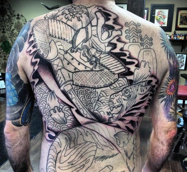 Mejores Tatuajes De Samurai Para Hombres Significado
