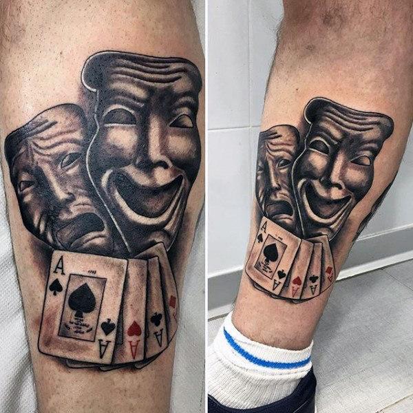 joker tatuaje en la pierna
