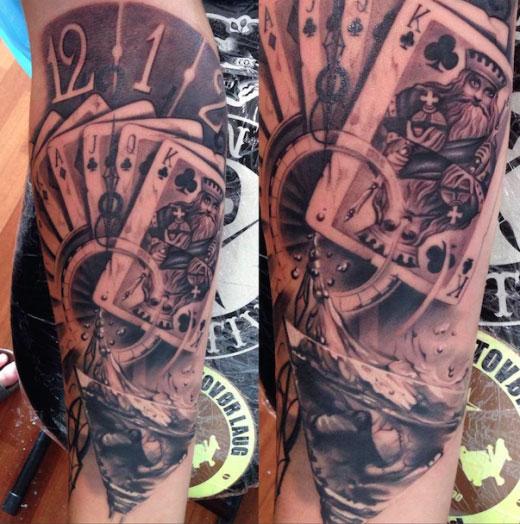 tattoo baraja de póker
