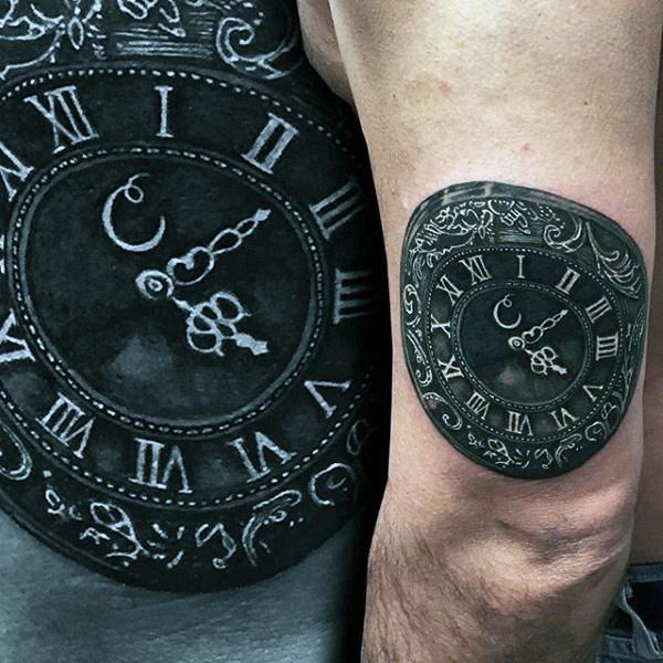 tattoo de reloj romano