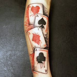 tatuaje de poker de aces