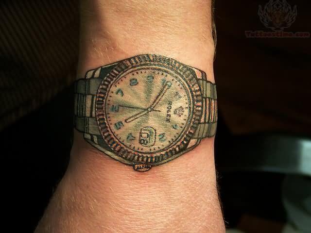 tatuaje de reloj de pulsera